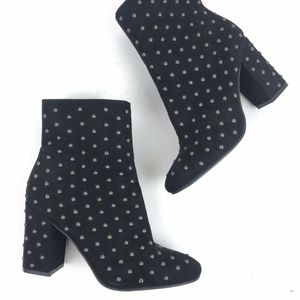 Lucky Brand Westand Studded Boots Black Silver